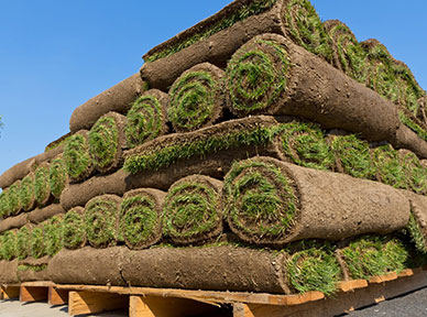 Professional sod pile