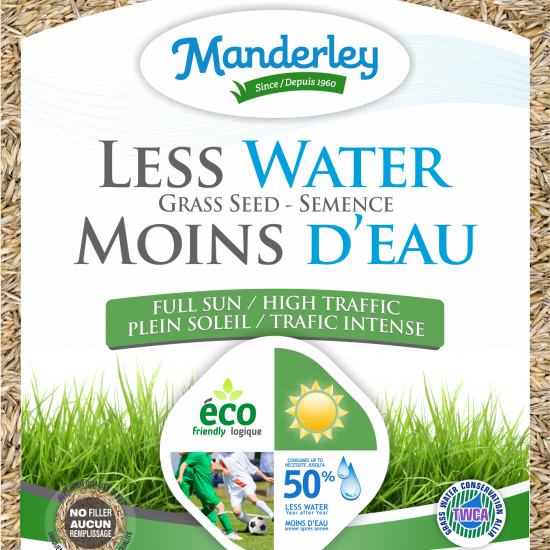 Manderley-Less Water Grass Seed-clear bag