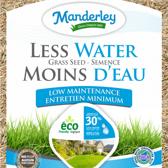 Manderley-Less Water Grass Seed-LM-clear bag